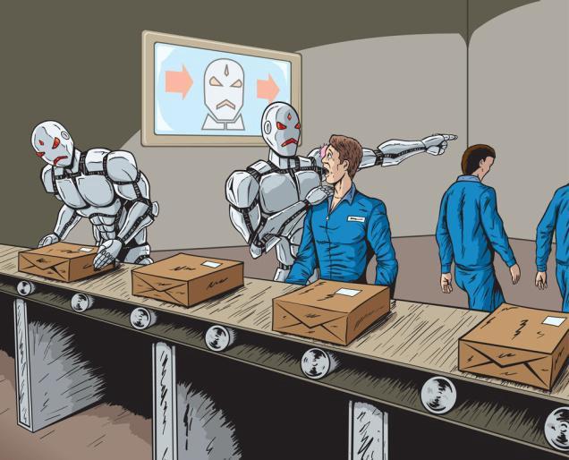 Технологическая безработица наглядно