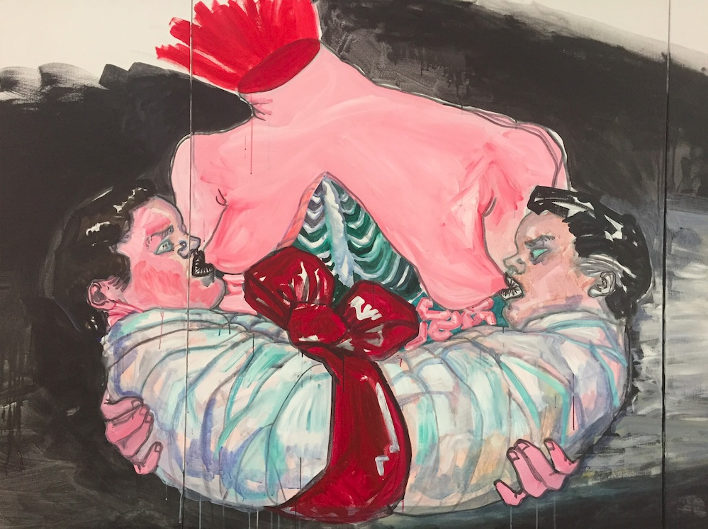Влада Ралко, <i>Тоска по Родине </i>(Фрагмент)<i>, </i>2016.<i></i>Холст, масло. С разрешения Karas Gallery (Киев, Украи