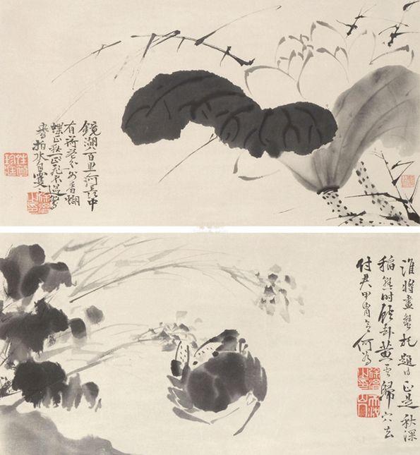 Крабы тушью – одна из любимых тем Сюй Вэя.
