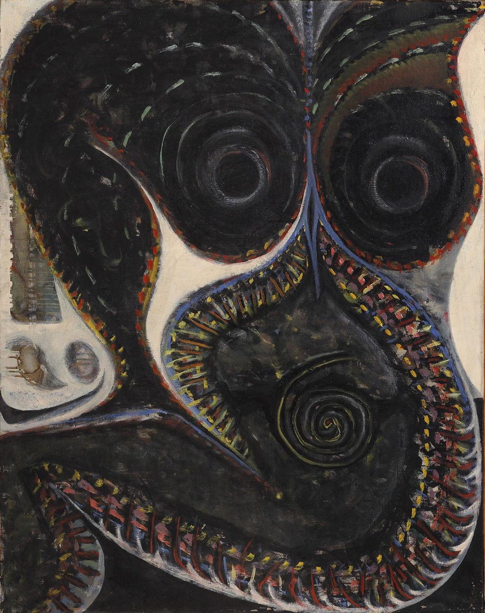 Работа «Barbelo» Жан-Жака Лебеля. 1955