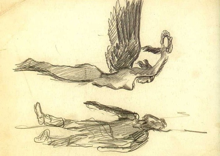 Александр Дейнека. «Слава над павшим воином». 1942