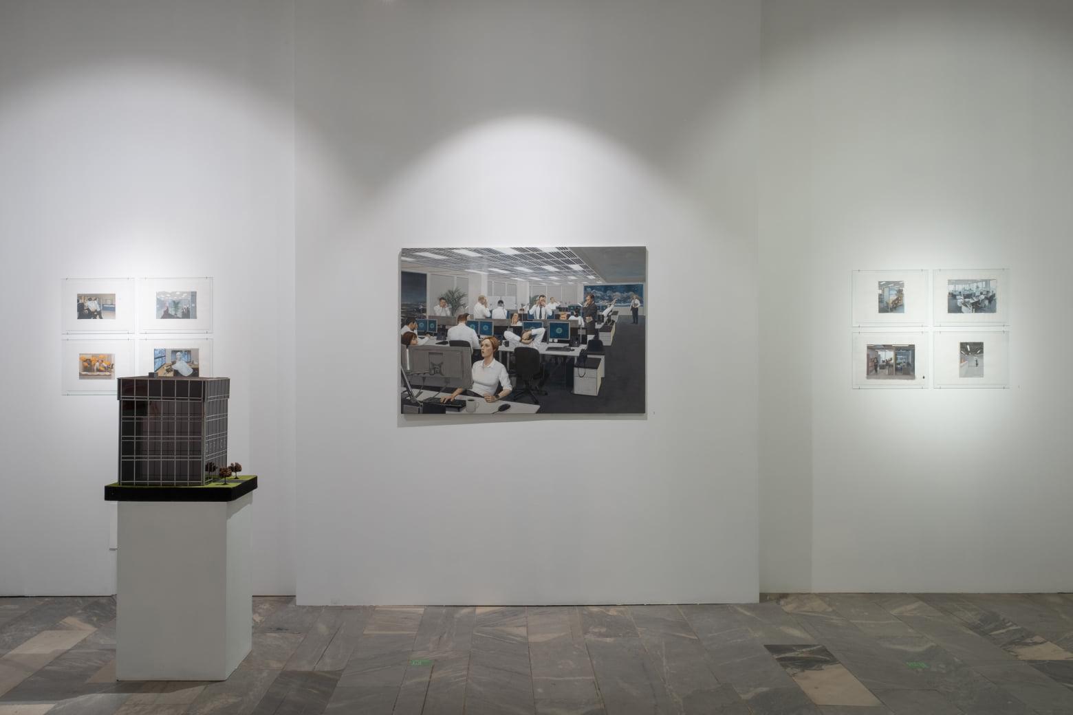 Проект «Офис» Марии Сафроновой. Фрагмент экспозиции. Фотографии Research Arts (2020)