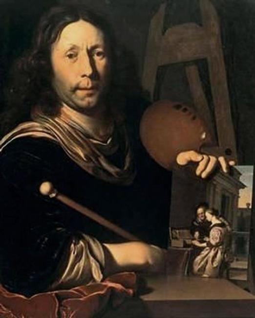 Мирис, Франс ван I Автопортрет (ок. 1677). Холст, масло. 71,5х57 см. Галерея Уффици, Флоренция