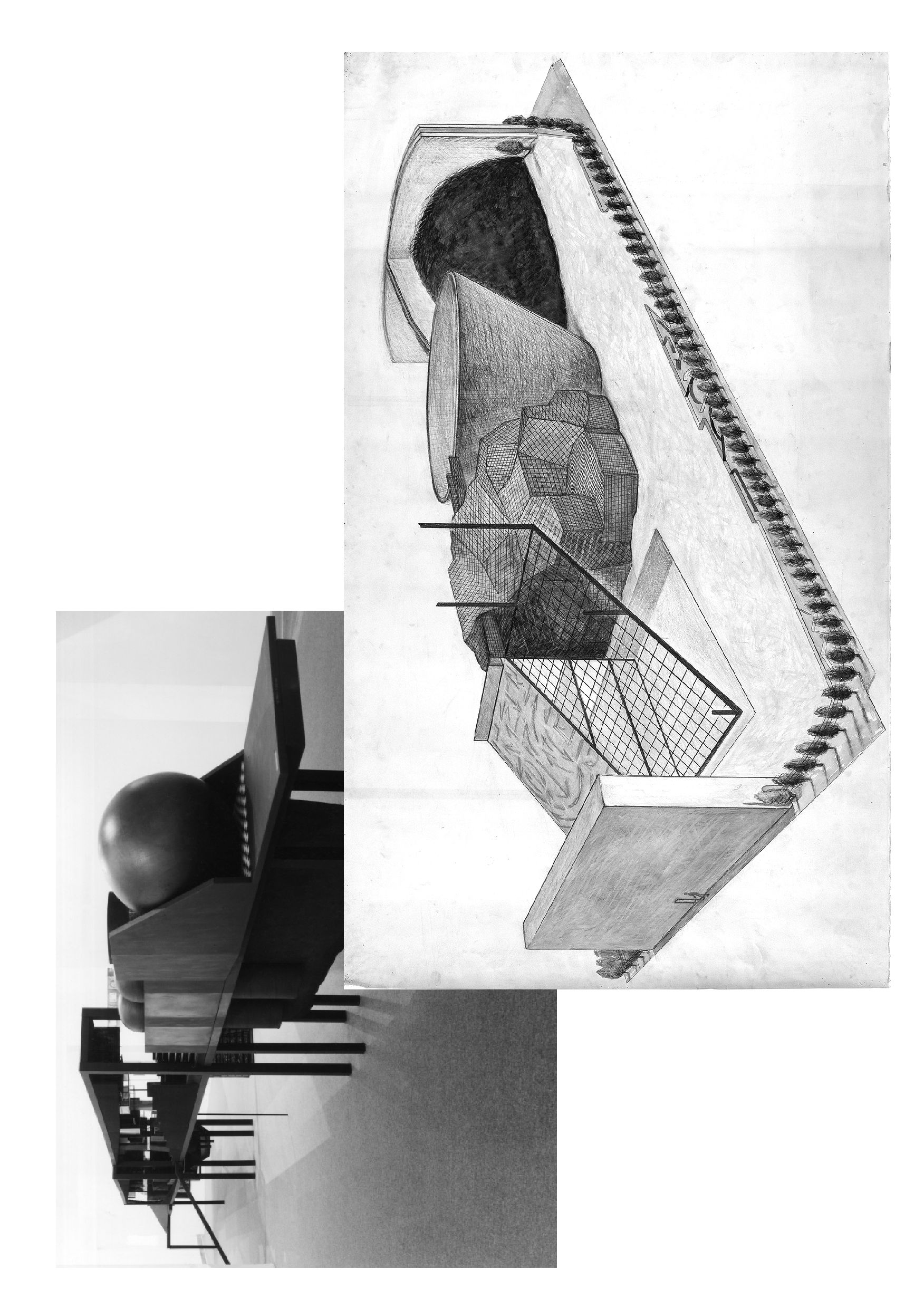 «The Process in Question/Bridge of Reversible Destiny» (1973-89) + «Container for Mind-Blank-Body» (1984). Courtesy:http