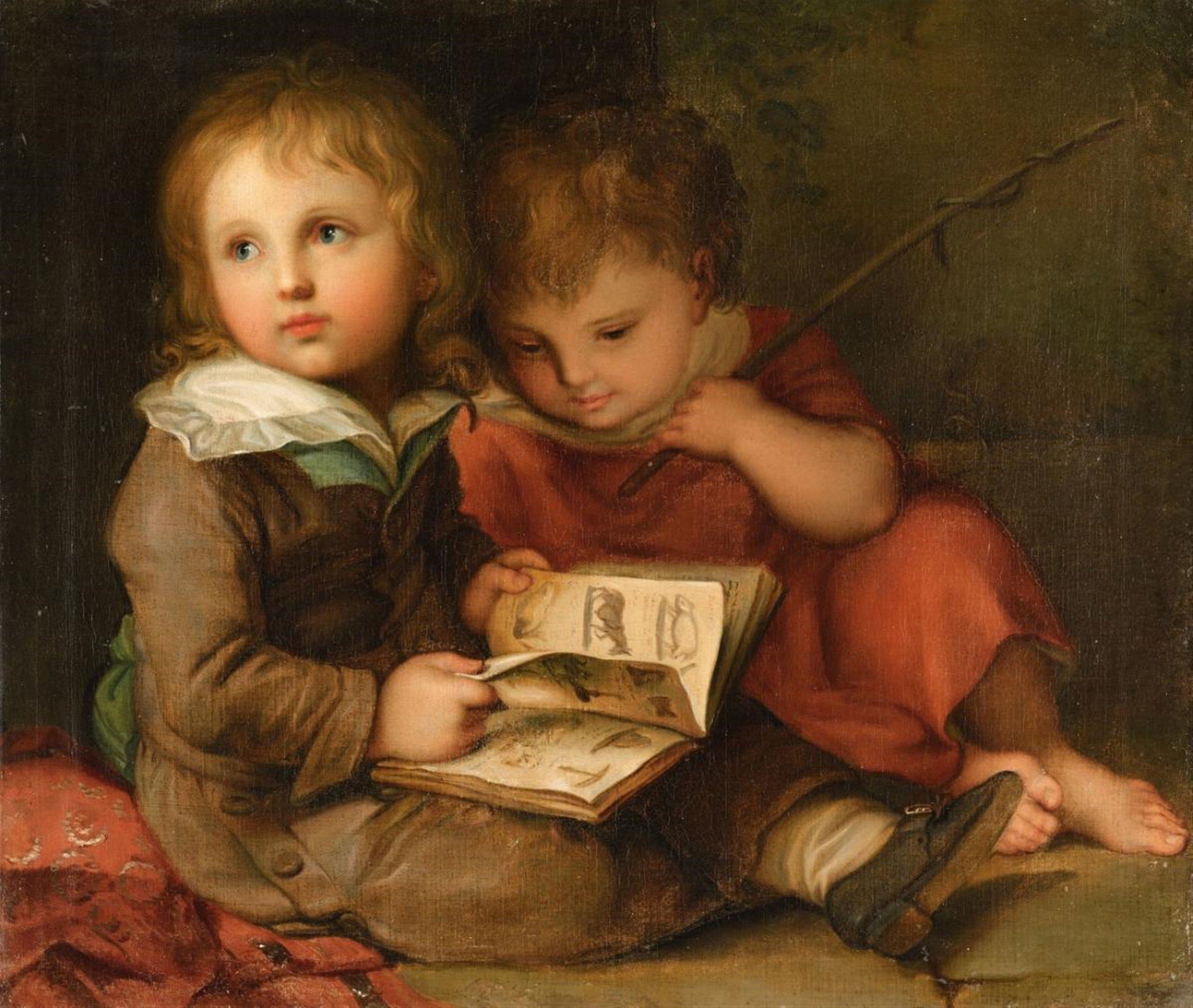 Christian Leberecht Vogel «The Painter's Children - Carl Christian and Friedrich Vogel», 1792